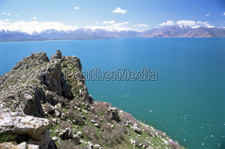 view from akdamar island of lake