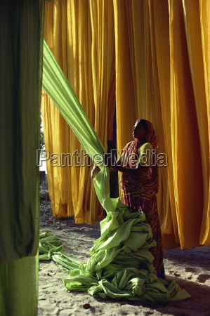 woman working with textiles ahmedabad gujarat