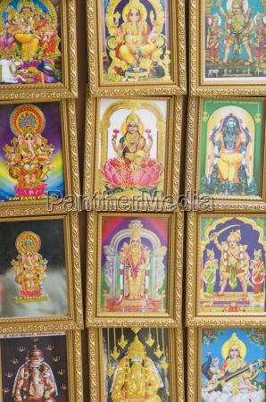 bilder von verschiedenen hindu goetter zum