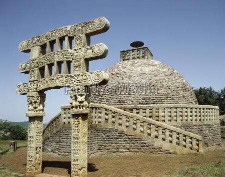 stupa no 3 in sanchi unesco