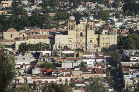 aerial view of city and santo
