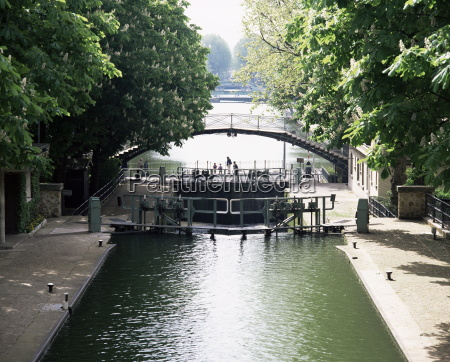canal st martin paris france europe