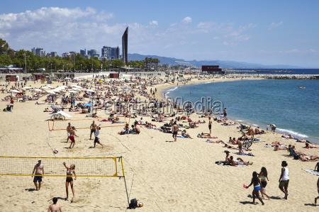 barcelona beach barcelona catalonia spain europe