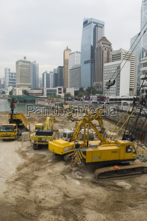 land reclamation project under way in
