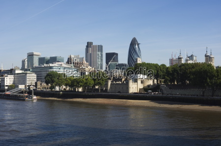 city of london financial district seen