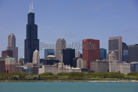 sears tower and skyline chicago illinois