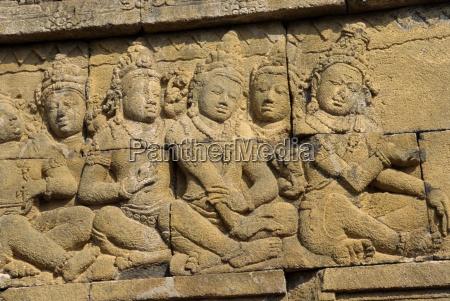 detail buddhist temple borobudur unesco world
