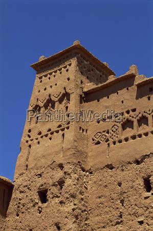 exterior of building ait benhaddou ksour