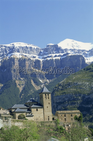 snow capped mountains of the ordesa