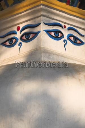 stupas at the base of swayambhunath