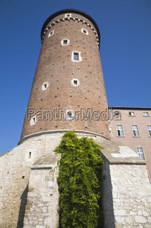 watch tower wawel castle wawel hill
