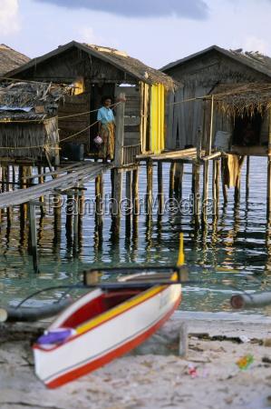 stilt house built by philippino refugees