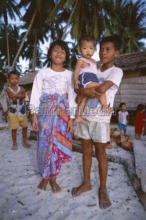 portrait of children of the village