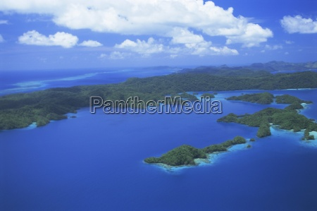 aerial view of bay of islands
