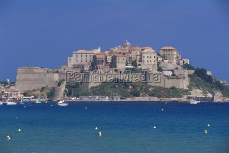 the citadel calvi corsica france mediterranean
