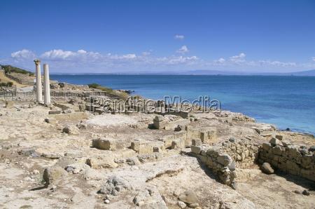 roman archaeological site tharros near oristano