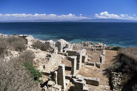 tharros roman site near oristano sardinia
