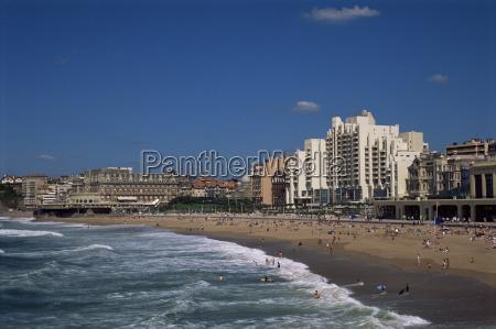 the beach biarritz aquitaine france europe