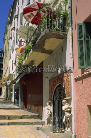 balcony and house entrance in the