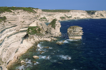 limestone cliffs on the coastline near