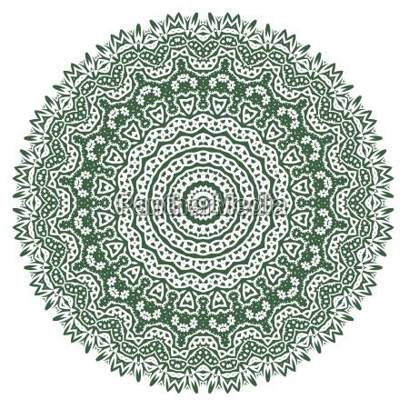 gruene dekorative orientalische geometrische verzierung
