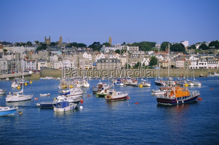 small boats at st peter port
