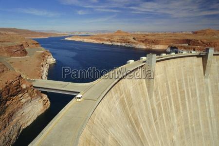 glen canyon dam lake powell near
