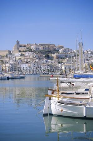 ibiza town and harbour ibiza balearic