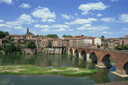 the river and bridge with the
