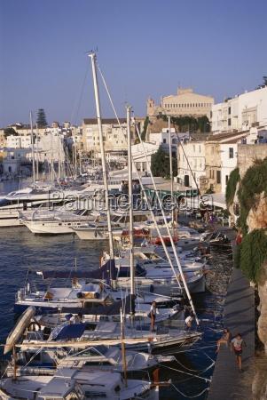 boats and waterfront cuidadella menorca minorca
