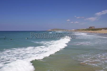 fistral beach newquay cornwall england united