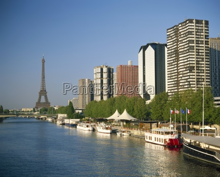 view from the river seine towards