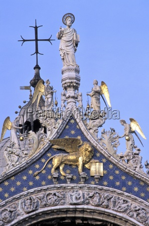 detail of st marks basilica piazza