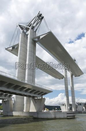 movable bridge flaubert 2008 on river