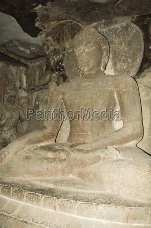 the ellora caves temples cut into