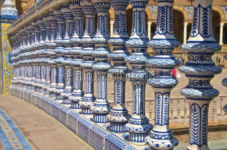 ceramic decor columns plaza de espana