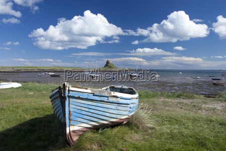 old wooden fishing boat on a