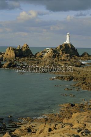 corbieres lighthouse jersey channel islands uk