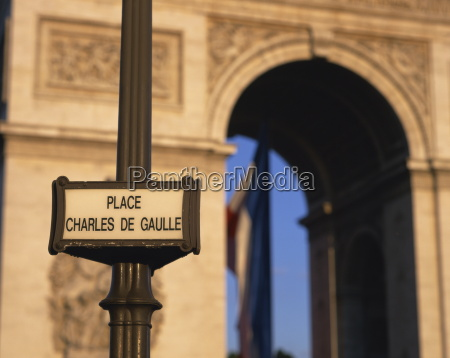 place charles de gaulle street sign