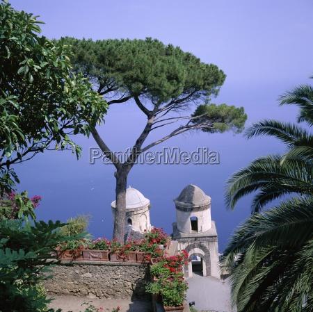 view to mediterranean sea villa rufolo