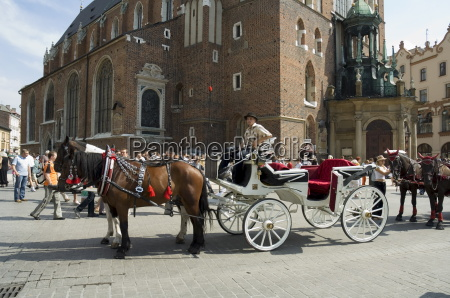 horse and carriage in main market