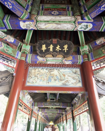 the long corridor changlang decorated with