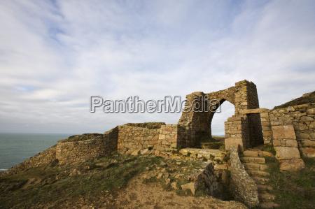 castle ruins grosnez jersey channel islands