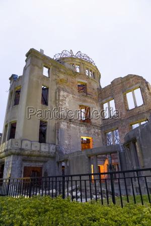 a bomb dome symbol der zerstoerung