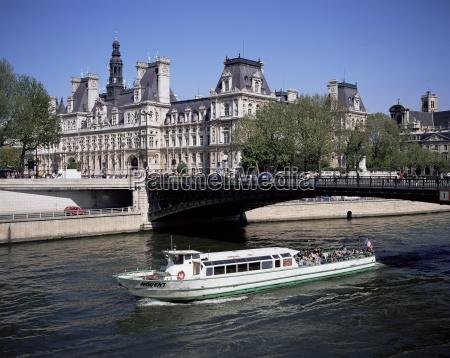 seine, und, hotel, de, ville, paris, frankreich, europa - 20639937