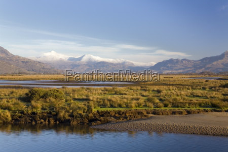 afon glaslyn river und glaslyn marshes