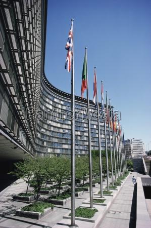 flaggen der eu mitgliedsstaaten bruessel belgien