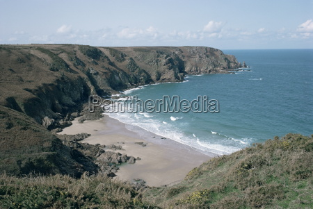 plemont bay from clifftop greve aulancon