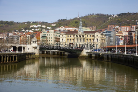 river nervion bilbao euskadi spain europe