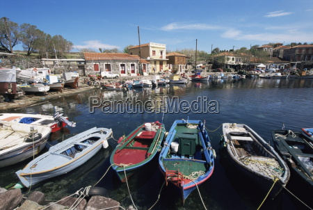 skala polichnitos boats and harbour lesbos